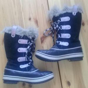 Sorel Tofino youth black w/purple boot